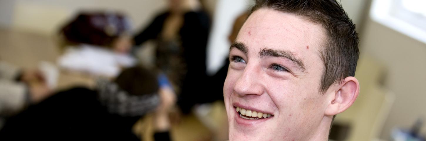 Smiling Irish pupil
